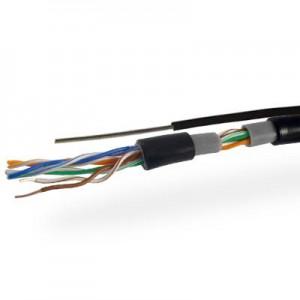 Кабель UTP 4х2 (0.51) CCA внешний черный 1jac+провод