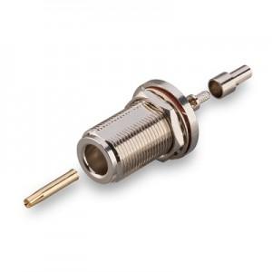 Разъем N231L N(female) - под кабель RG174 и RG316 обжимной с гайкой