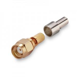 Разъем RP-SMA-male/RG-58, RG142, RG400, LMR195 обжимной